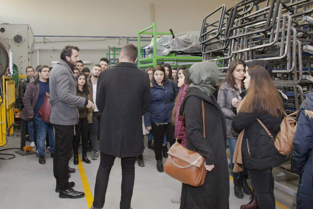 Sakarya Üniversitesi fabrikamızı ziyaret etti.