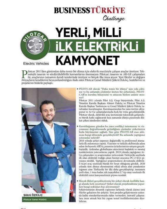 Business Türkiye Challenge Dergisi PILOTCAR
