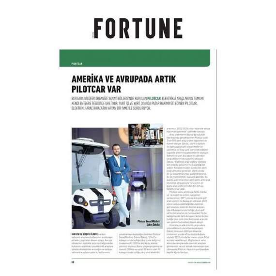 Elektrikli Mini Kamyonet P-1000 Fortune Dergisi'nde