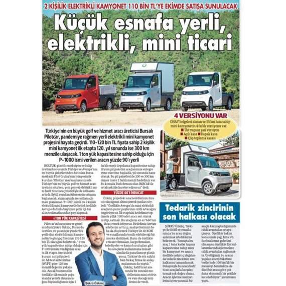 Emre Özpeynirci`nin Sözcü Gazetesi`nde yeni modelimiz P1000 ile ilgili haberi.
